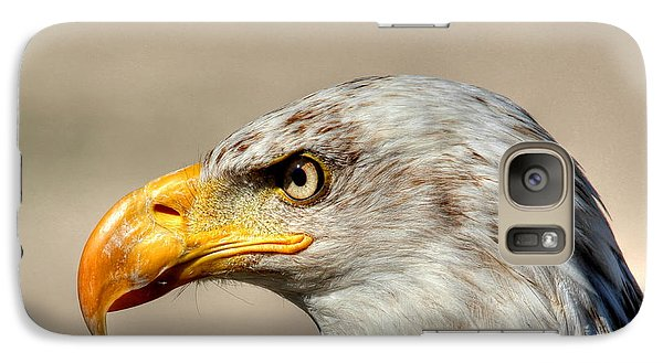 Galaxy Case featuring the photograph Eagle Profile by Larry Trupp