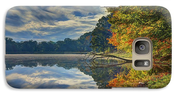 Galaxy Case featuring the photograph Early Autumn At Caldwell Lake by Jaki Miller