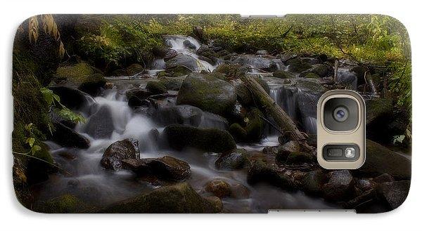 Galaxy Case featuring the photograph Early Autumn Cascades by Ellen Heaverlo