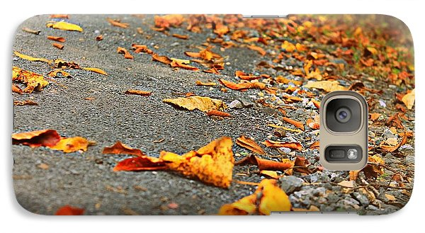 Galaxy Case featuring the photograph Early Autumn Road by Candice Trimble
