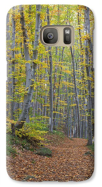 Galaxy Case featuring the photograph Early Autumn Vitosha Mountain Forest Bulgaria by Jivko Nakev