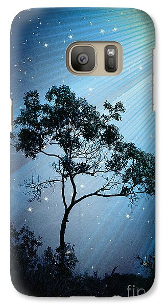 Galaxy Case featuring the photograph Early Bloomer Light Trail -  No.4838 by Joe Finney