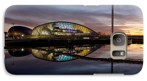 Galaxy Case featuring the photograph Early Evening Reflections Of The Science Centre by Stephen Taylor