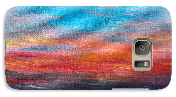 Galaxy Case featuring the painting Early Evening Sky by Martin Blakeley