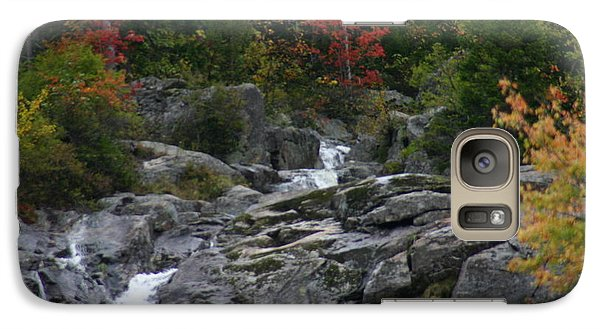 Galaxy Case featuring the photograph Early Fall Waterfall by Denyse Duhaime
