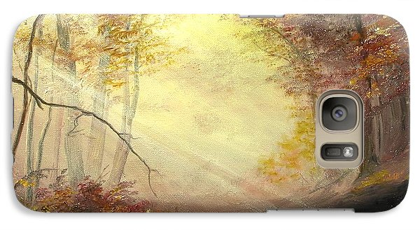 Galaxy Case featuring the painting Early In The Morning by Sorin Apostolescu