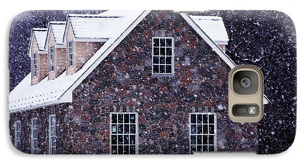 Galaxy Case featuring the photograph Early January Snow In Maryland by Andy Lawless