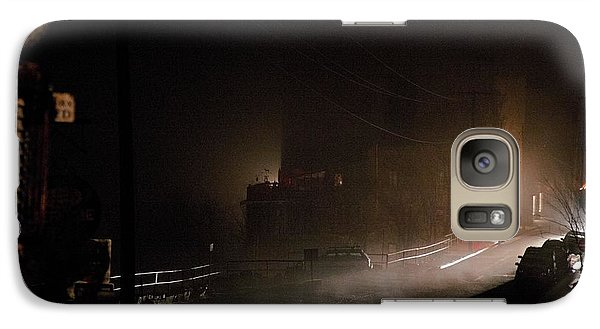 Galaxy Case featuring the photograph Early Misty Morning In Jerome Az by Ron Chilston