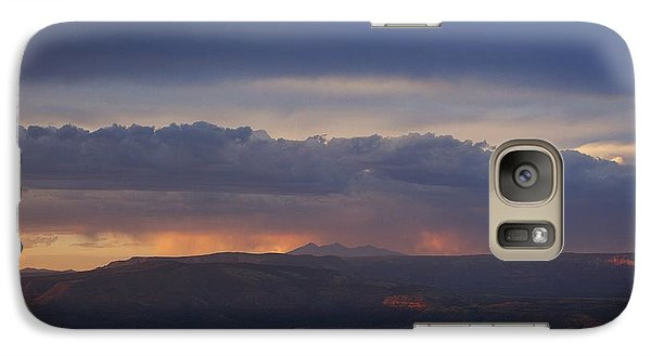 Galaxy Case featuring the photograph Early Monsoon Sunset Over San Francisco Peaks by Ron Chilston