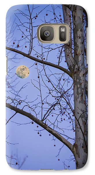 Galaxy Case featuring the photograph Early Moon by Micah Goff
