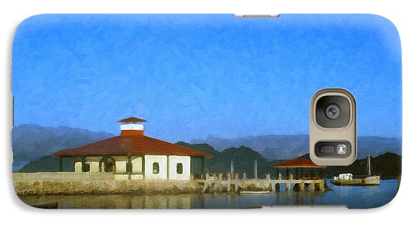 Galaxy Case featuring the digital art Early Morning At The Lake by Spyder Webb