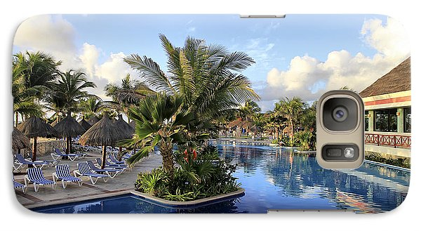 Galaxy Case featuring the photograph Early Morning At The Pool by Teresa Zieba