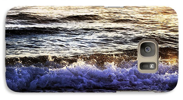 Galaxy Case featuring the photograph Early Morning Frothy Waves by Amyn Nasser