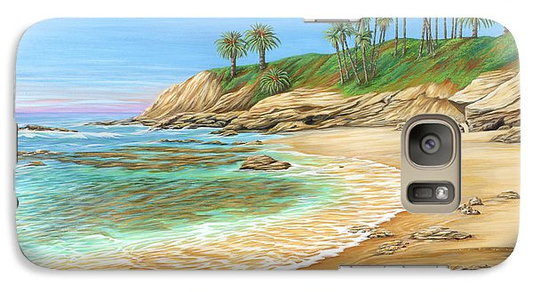 Galaxy Case featuring the painting Early Morning Laguna by Jane Girardot