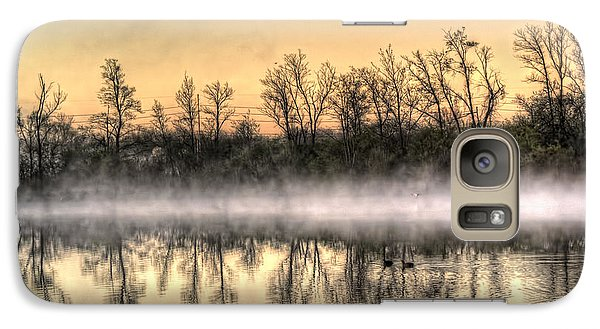 Galaxy Case featuring the photograph Early Morning Mist by Lynn Geoffroy