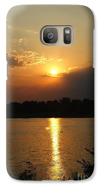 Galaxy Case featuring the pyrography Early Morning Rise by Roseann Errigo