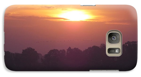 Galaxy Case featuring the photograph Early Morning Risers by John Glass