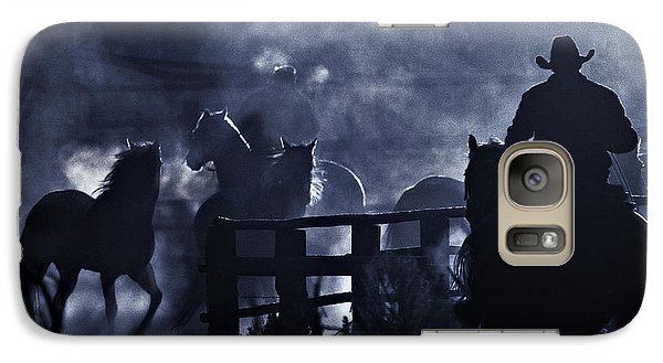 Galaxy Case featuring the photograph Early Morning Smoke by Joan Davis