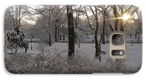 Galaxy Case featuring the photograph Early Morning Sun In Central Park.  by Winifred Butler