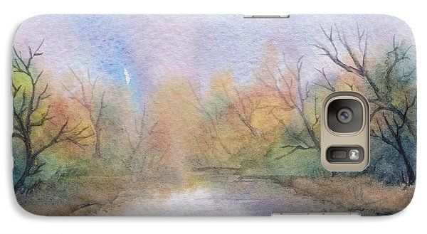 Galaxy Case featuring the painting Early Morning Waterway by Rebecca Davis