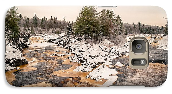 Galaxy Case featuring the photograph Early Snowfall On The Saint Louis River by Mark David Zahn