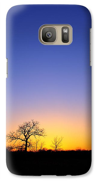 Galaxy Case featuring the photograph Early Spring Oak At Sunset by Ed Cilley