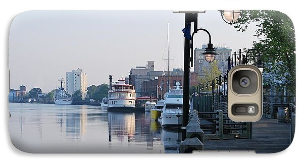 Galaxy Case featuring the photograph Early Morning Walk Along The River by Bob Sample