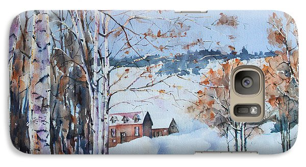 Galaxy Case featuring the painting Early Winter Day by Marta Styk