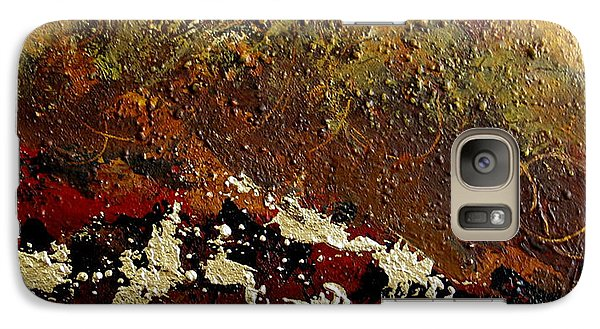 Galaxy Case featuring the painting Earth Abstract Four by Lance Headlee