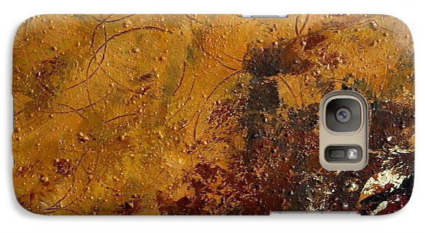 Galaxy Case featuring the painting Earth Abstract Two by Lance Headlee