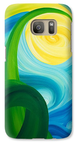 Galaxy Case featuring the painting Earth And Sky Meet by Ginny Gaura