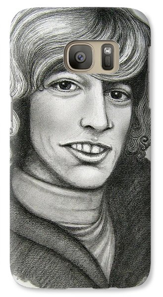 Galaxy Case featuring the drawing Robin Gibb by Patrice Torrillo