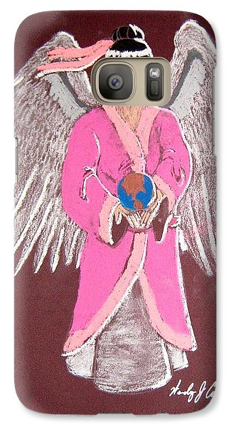 Galaxy Case featuring the pastel Earth Angel by Wendy Coulson