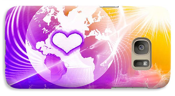 Galaxy Case featuring the digital art Earth Ascending by Ute Posegga-Rudel