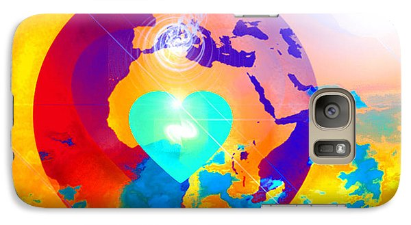 Galaxy Case featuring the digital art Earth Changes by Ute Posegga-Rudel