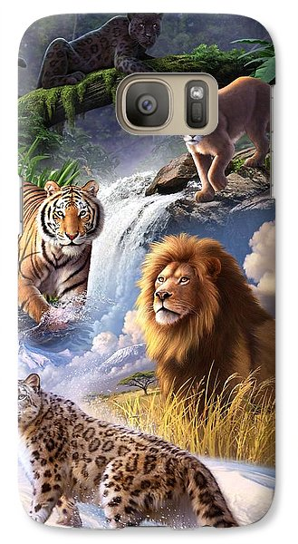 Lion Galaxy S7 Case - Earth Day 2013 Poster by Jerry LoFaro