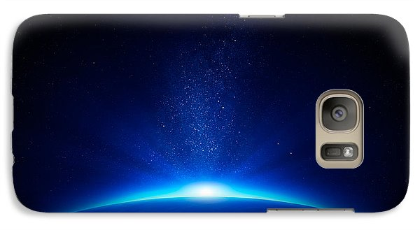 Earth Sunrise In Space Galaxy S7 Case