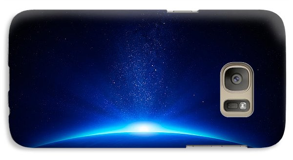 Earth Sunrise In Space Galaxy S7 Case by Johan Swanepoel