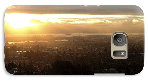 Galaxy Case featuring the photograph East Bay Sunset by Lennie Green