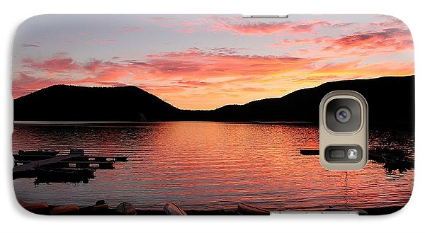 Galaxy Case featuring the photograph East Lake Sunset by Erica Hanel
