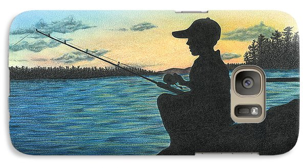 Galaxy Case featuring the drawing East Pond by Troy Levesque