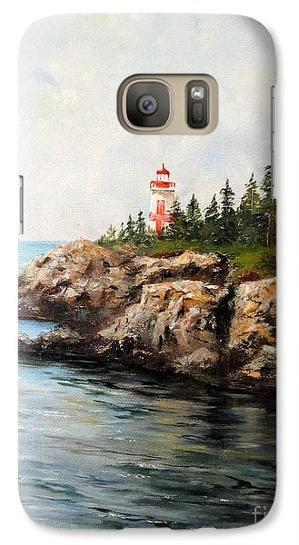 Galaxy Case featuring the painting East Quoddy Head Light by Lee Piper