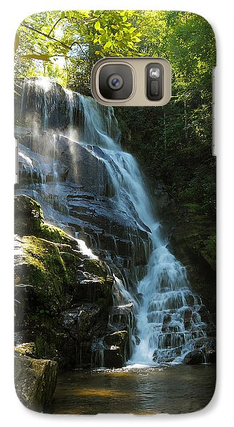 Galaxy Case featuring the photograph Eastatoe Falls North Carolina by Charles Beeler