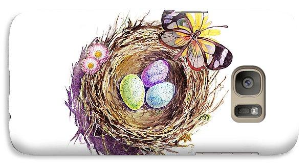 Easter Colors Bird Nest Galaxy S7 Case by Irina Sztukowski