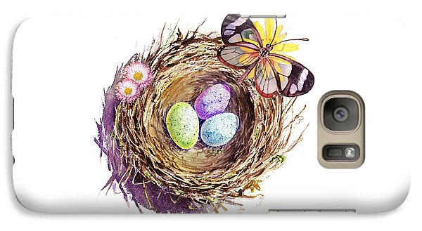 Easter Colors Bird Nest Galaxy Case by Irina Sztukowski