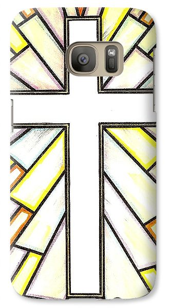 Galaxy Case featuring the painting Easter Cross 3 by Jim Harris