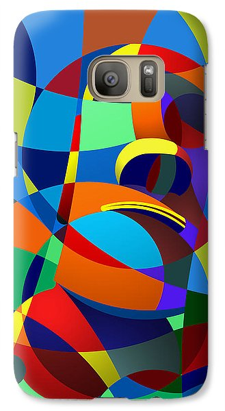 Galaxy Case featuring the digital art Easter Island by Randall Henrie