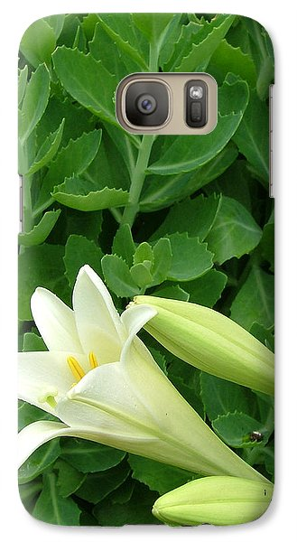 Galaxy Case featuring the photograph Easter Lily by Natasha Denger