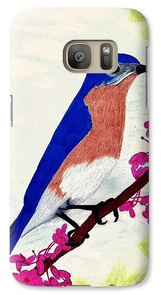 Galaxy Case featuring the drawing Florida - Eastern - Blue Bird by D Hackett