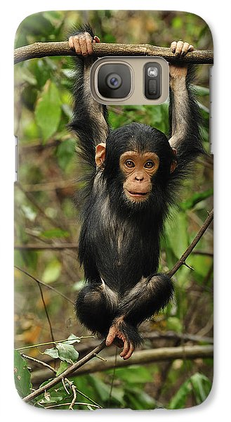 Eastern Chimpanzee Baby Hanging Galaxy S7 Case